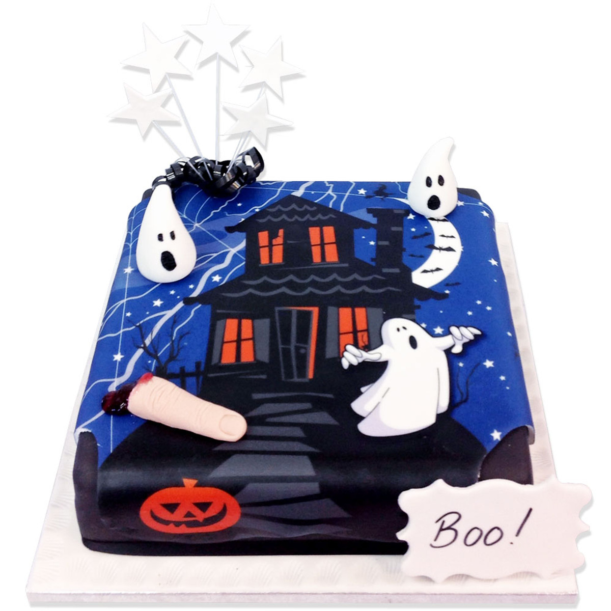 Awesome Spooky Night Cake Halloween Cakes The Brilliant Bakers Personalised Birthday Cards Epsylily Jamesorg