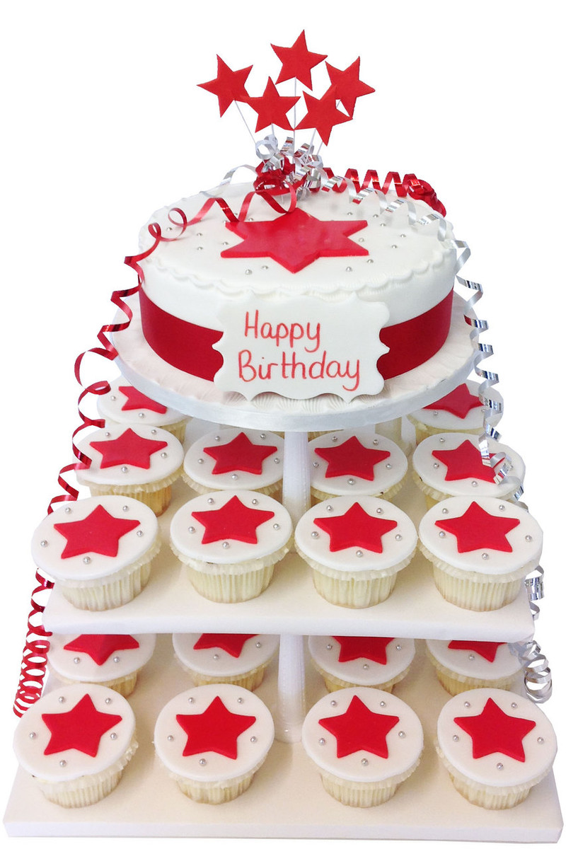 Amazing All Star Cupcake Tower Cupcake Towers The Brilliant Bakers Funny Birthday Cards Online Bapapcheapnameinfo