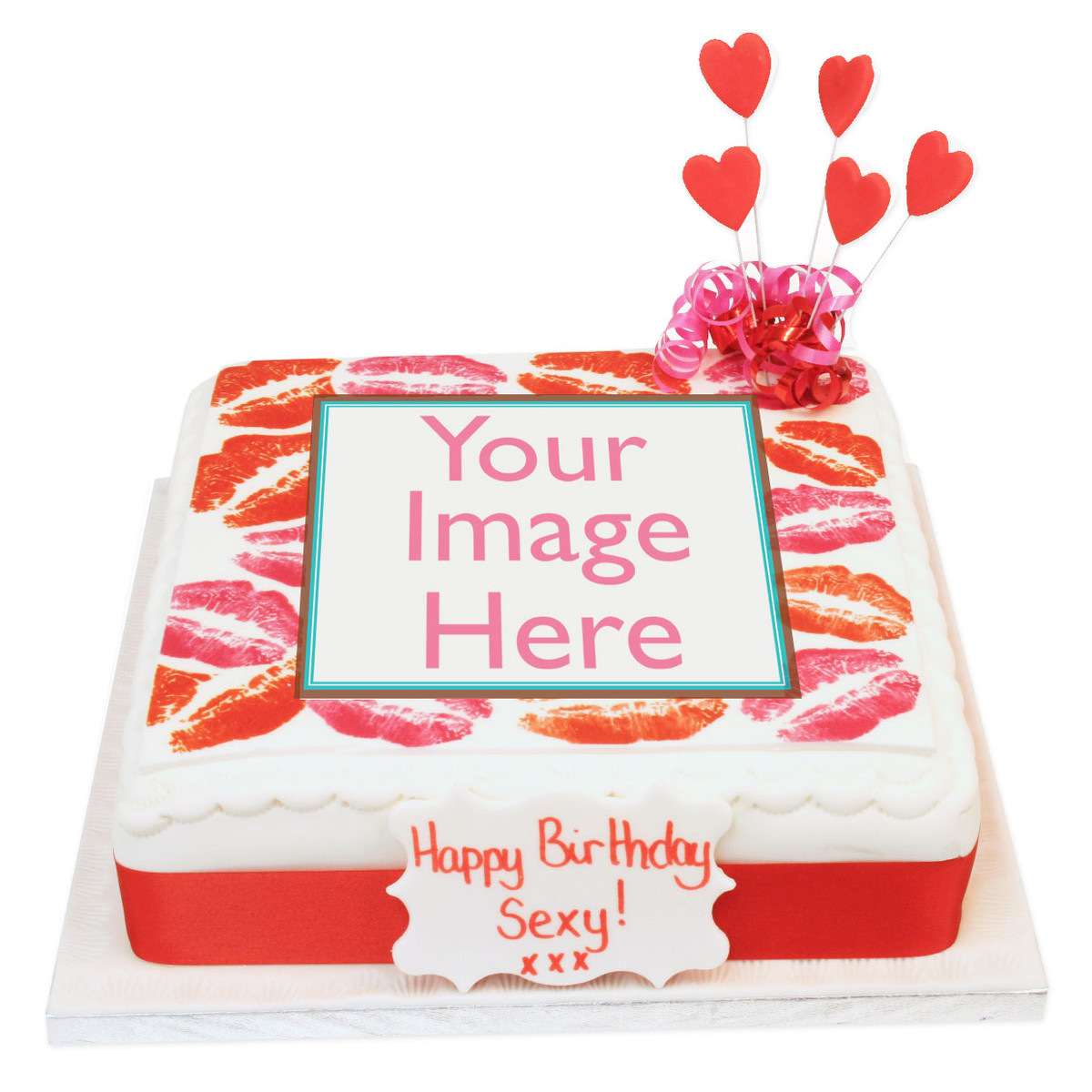 Pleasing Hot Lips Photo Cake Rude Birthday Cakes The Brilliant Bakers Personalised Birthday Cards Bromeletsinfo