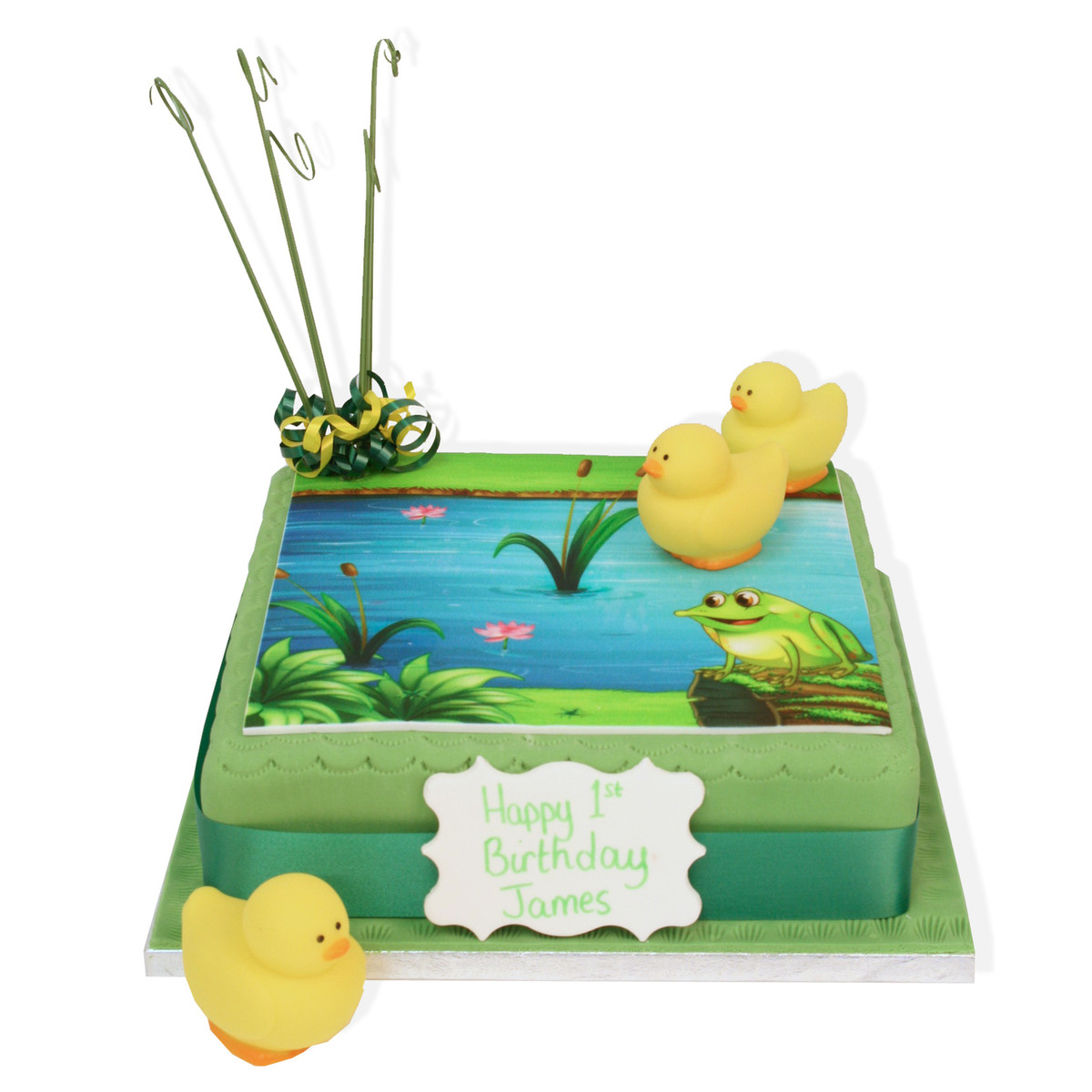 Brilliant Duck Pond Birthday Cake Childrens Birthday Cakes The Brilliant Funny Birthday Cards Online Alyptdamsfinfo