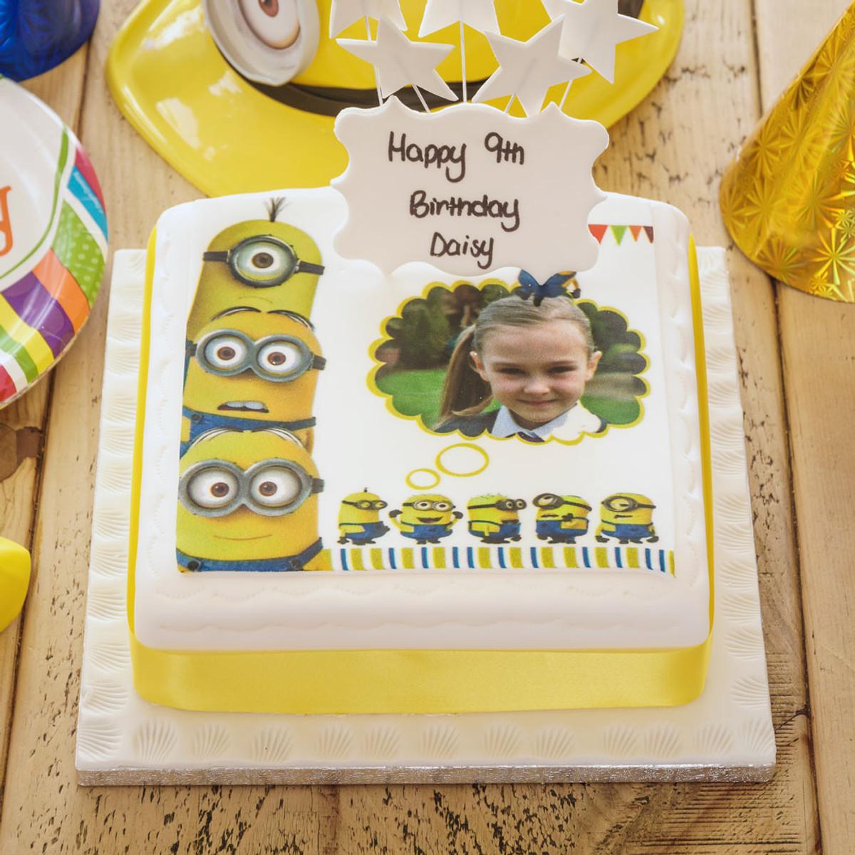 Groovy Minions Photo Cake Birthday Cakes The Brilliant Bakers Funny Birthday Cards Online Elaedamsfinfo