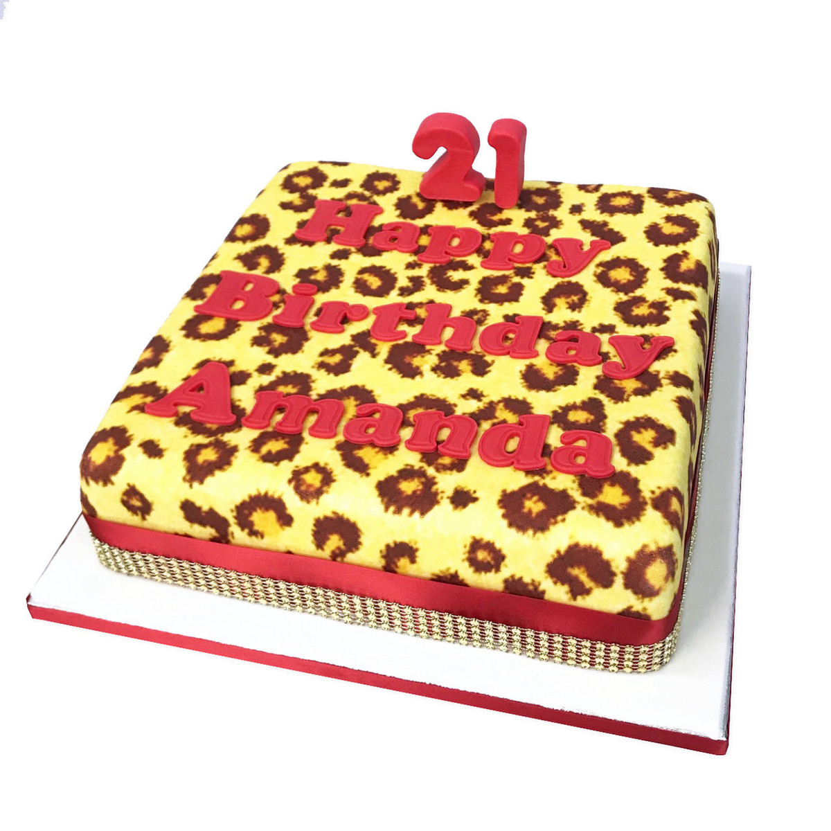 graphic regarding Printable Pictures of Birthday Cakes called Leopard Print Birthday Cake Childrens Birthday Cakes The