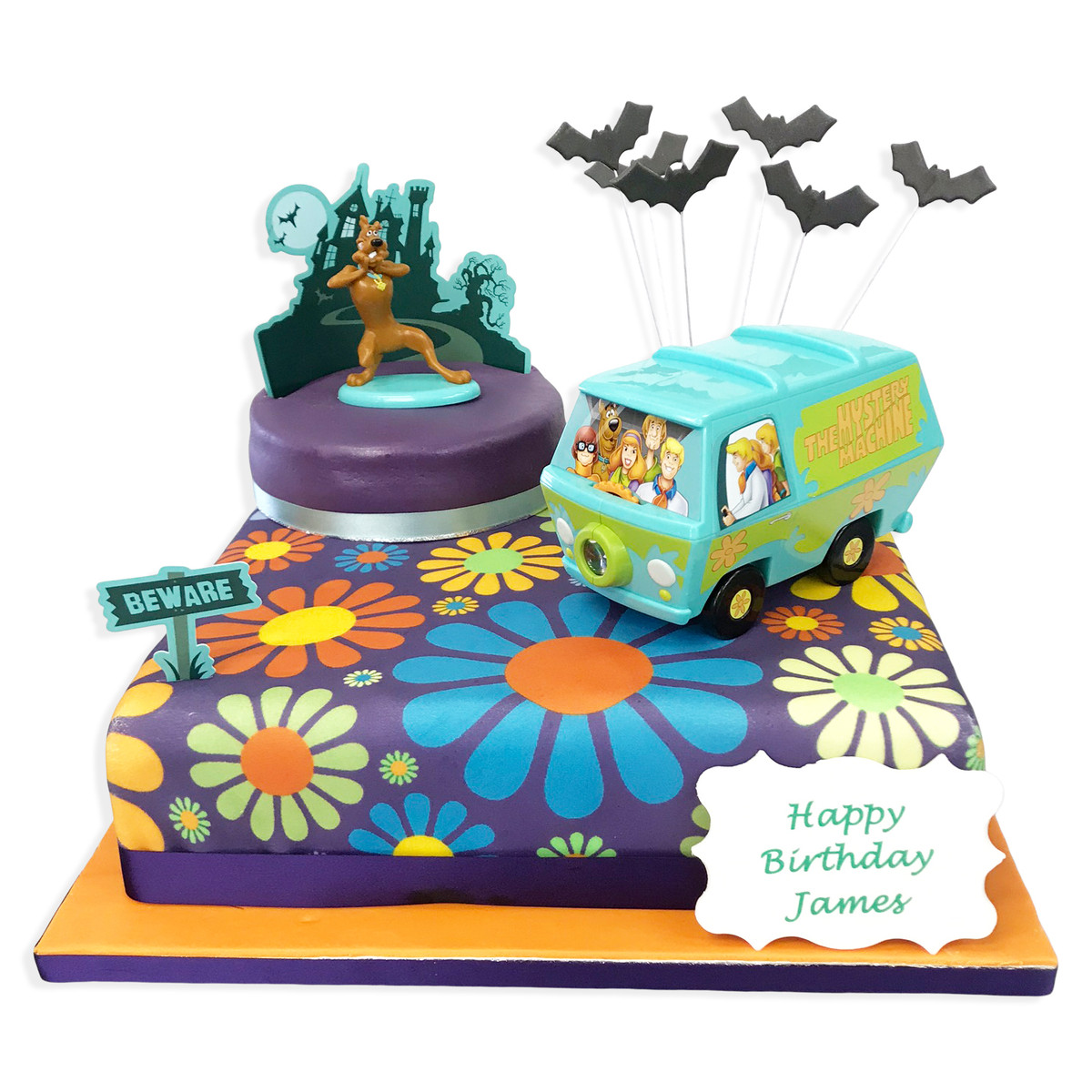 Superb Scooby Mystery Machine Cake The Brilliant Bakers Funny Birthday Cards Online Alyptdamsfinfo