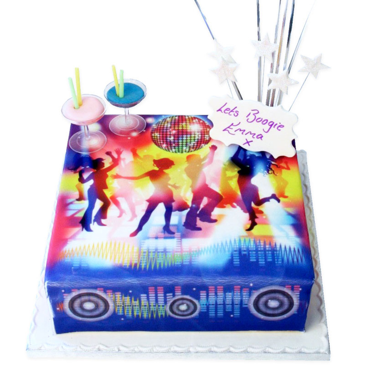 Awesome Disco Birthday Cake Girls Birthday Cakes The Brilliant Bakers Funny Birthday Cards Online Hendilapandamsfinfo