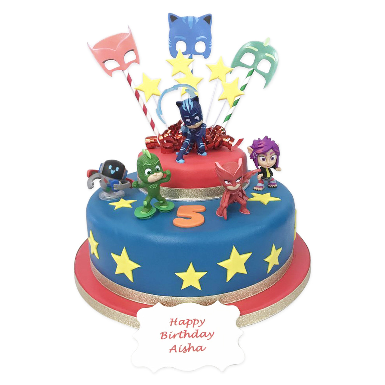 pj masks birthday |two tier cake|the cake store
