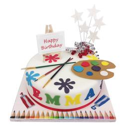 Artist Palette Cake