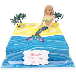 Mermaid Birthday Cake Blonde