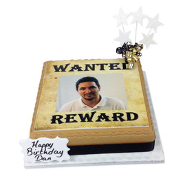 Wanted Photo Cake