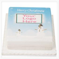 Christmas Themed Logo Cake