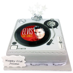 Record Deck Photo Cake