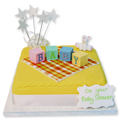 Letter Blocks Baby Cake (Yellow)