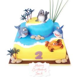 Sea Life Friends Birthday Cake