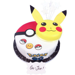 Pokemon Go Birthday Cake