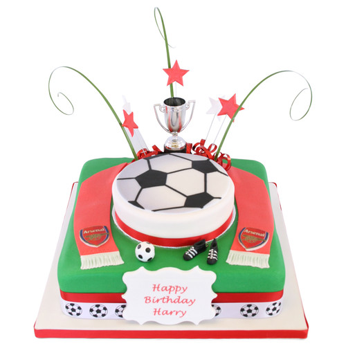 Football Team Birthday Two~Tier Cake