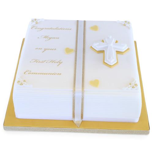 Holy Communion Book Cake