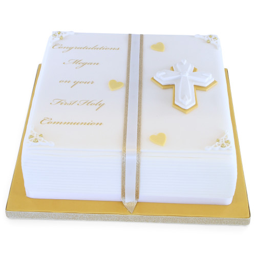 Holy Communion Book Cake