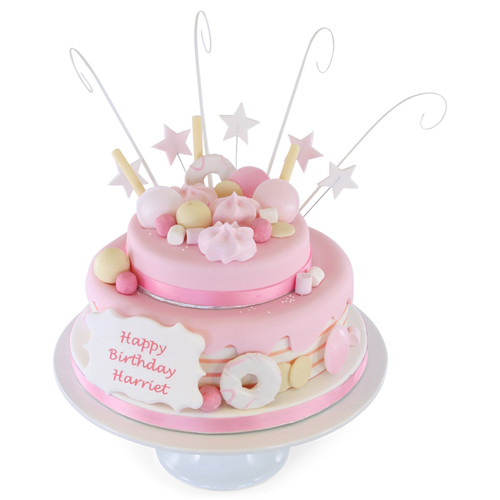 Pink tastic Two~Tier Cake