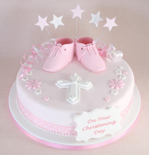 Baby Booties Christening Cakecs