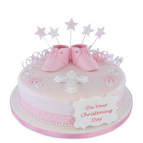 Baby Booties Christening Cake