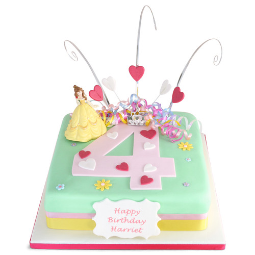 Princess Number Cake
