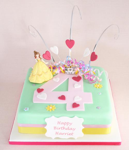 Princess Number Cake