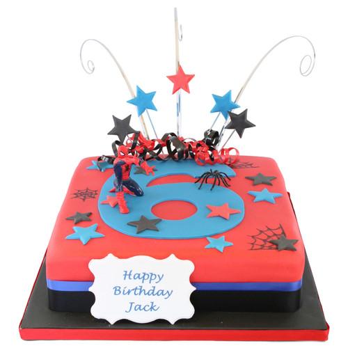Spiderman Number Cake