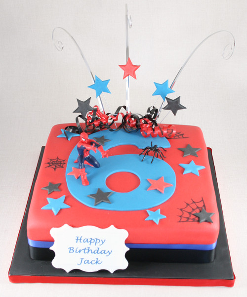 Spiderman Number Cake