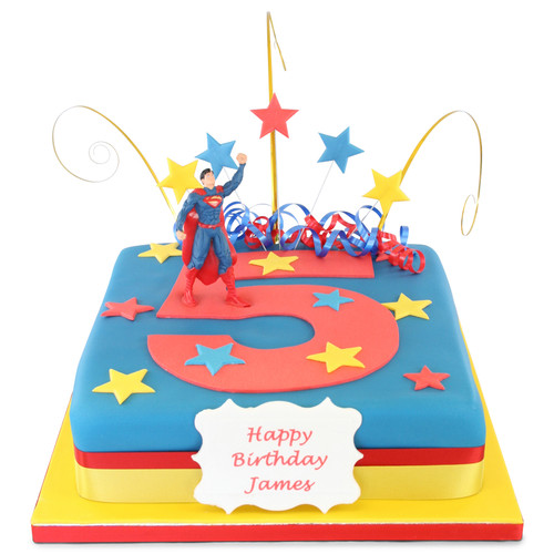 Superman Number Cake