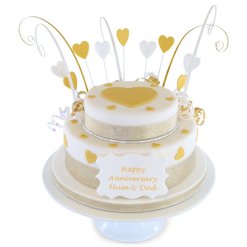 Anniversary Two~Tier Cake