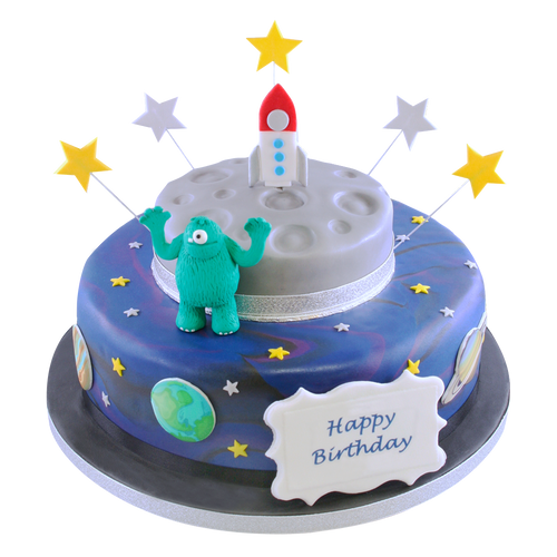 Rocket to the Planets Cake