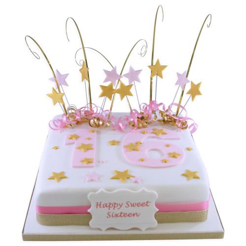 Big Pink Number Cake