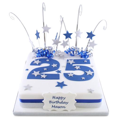 Big Blue Number Cake