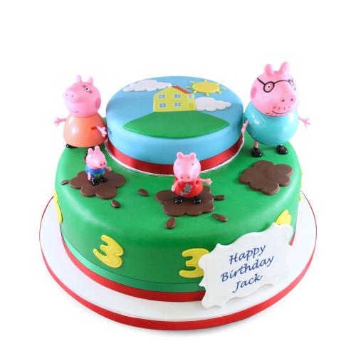 Peppa Pig at Home Cake