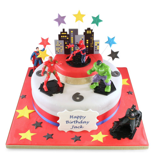 Super Hero Two Tier Cake