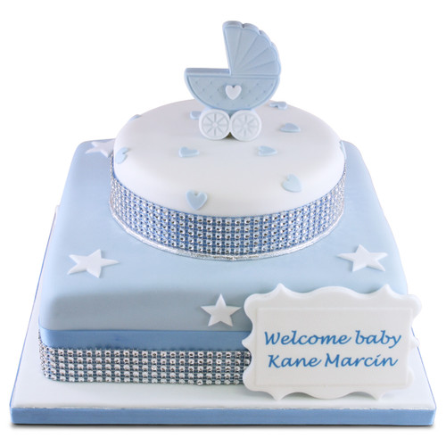 Welcome Baby Two~Tier Cake