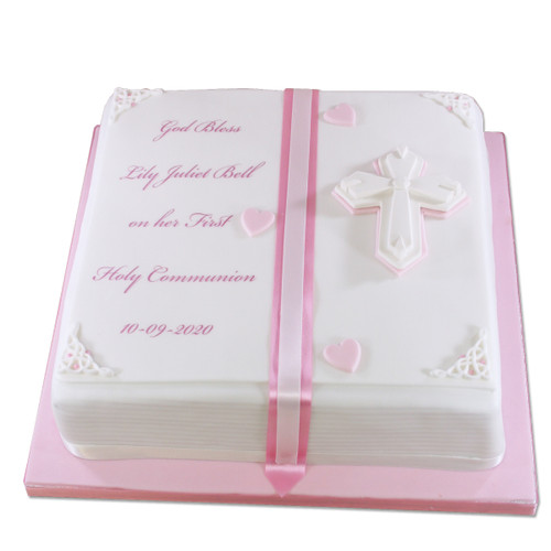 Holy Book Pink Cake