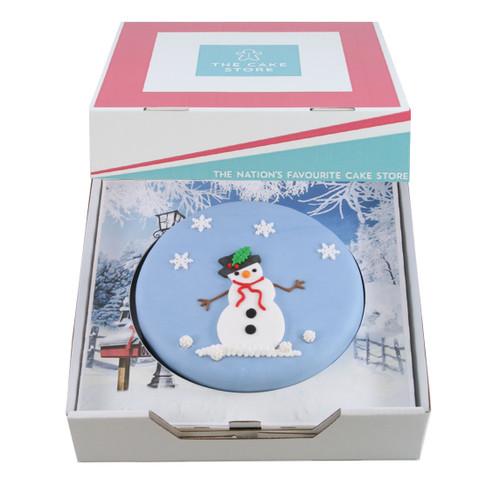 Jolly Snowman Gift Cake