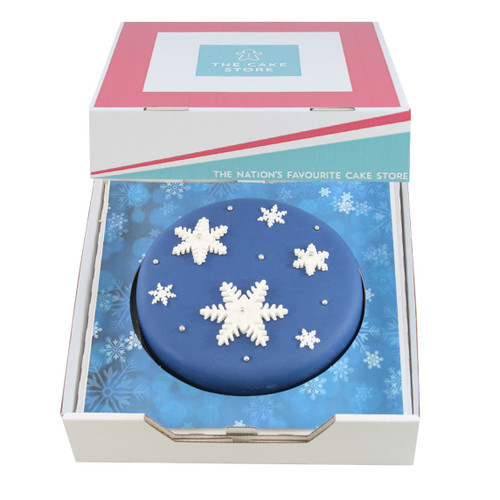 Snowy Night Gift Cake