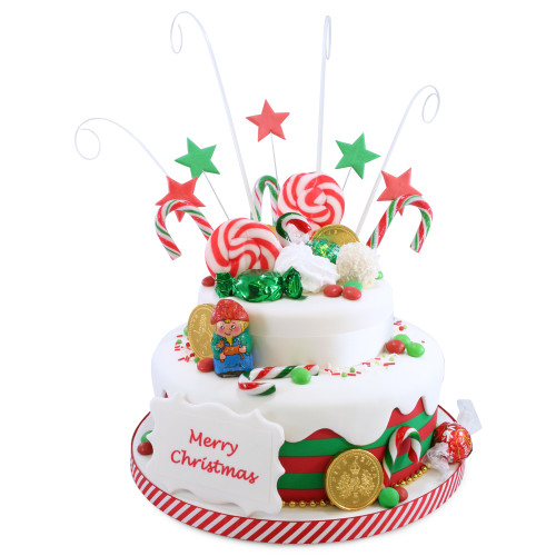 Christmas-Tastic Two~Tier Cake