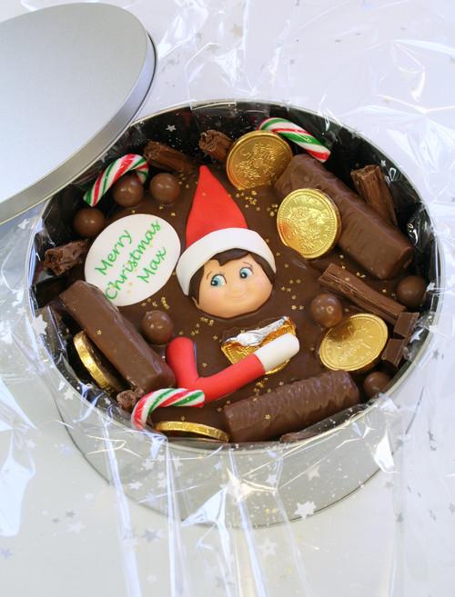 Christmas Elf Cake In-A-Tin