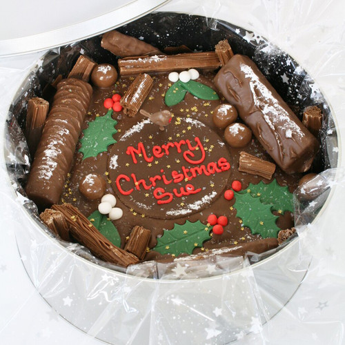 Holly & Mistletoe Cake In-A-Tin