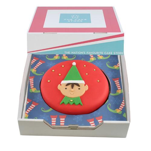 Santa's Little Helper Gift Cake