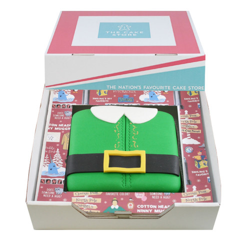 Elf Gift Cake