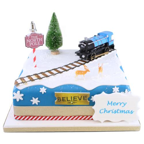 Santa Express Cake