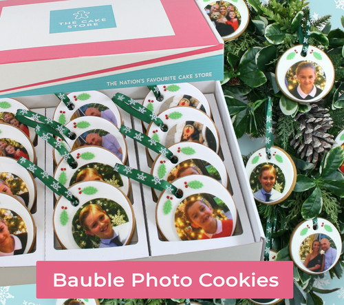 Christmas Bauble Photo Cookies