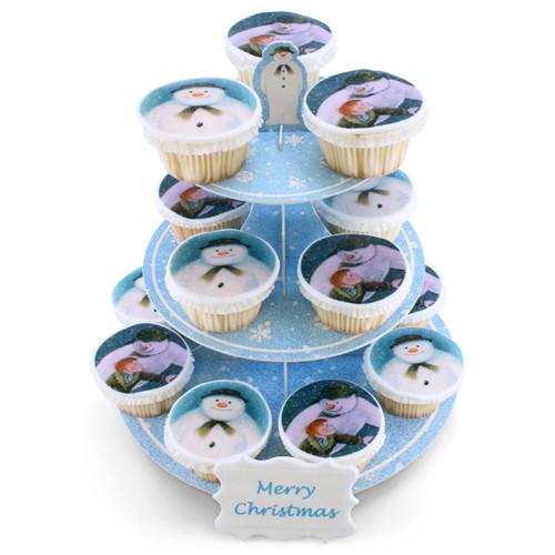 Snowman Cupcake Tower