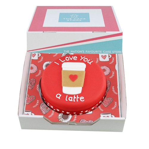 Love You Latte Gift Cake