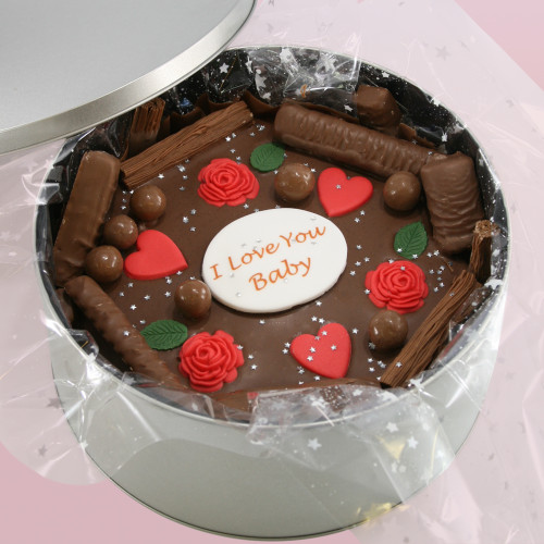 Hearts and Roses Cake In-A-Tin