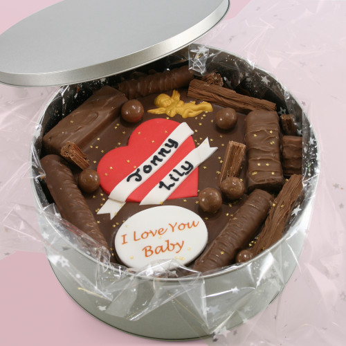 Personalised Valentine's Cake In-A-Tin
