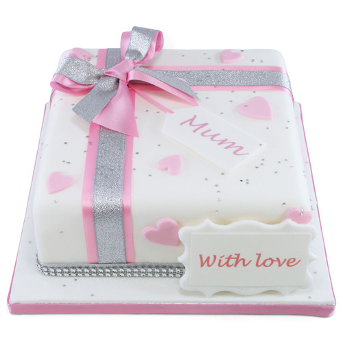Parcel of Hearts Cake
